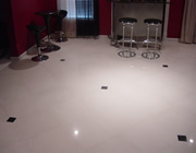 Custom Travertine, Marble, Porcelain Floor Installation