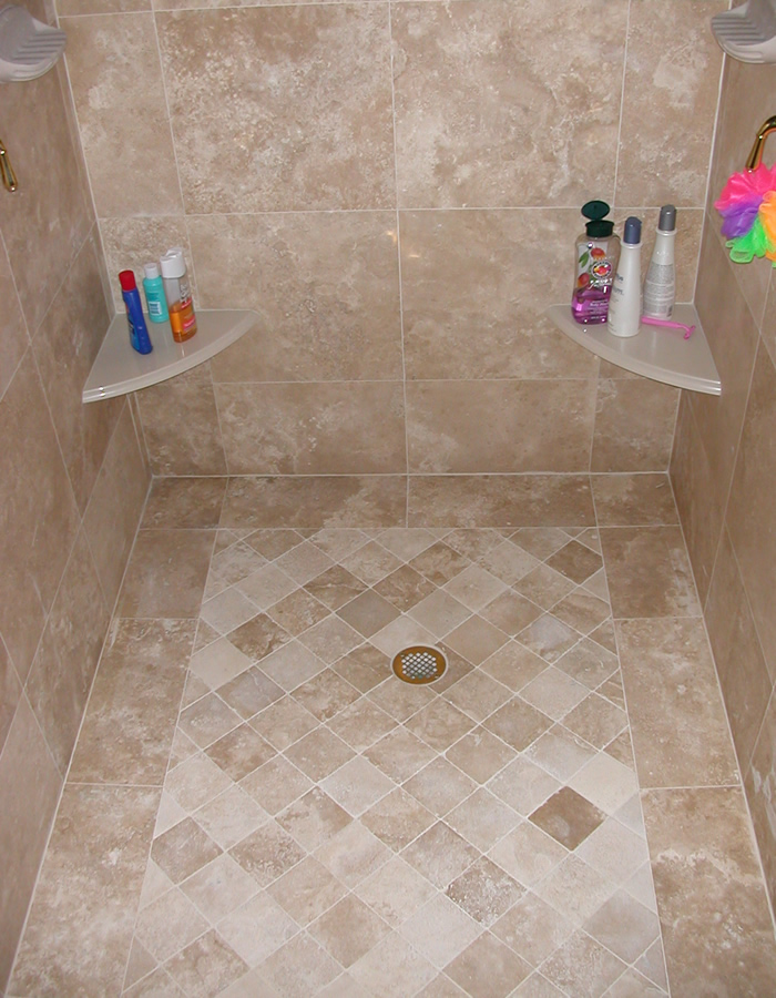 bathroom remodel tile floor. Custom Shower Seats \u0026 Niches Bathroom Remodel Tile Floor