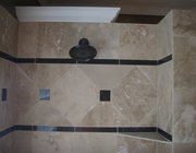 Travertine bath remodel