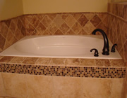 Travertine jacuzzi tub