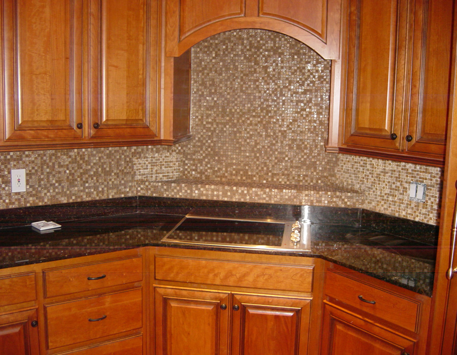 Travertine Tile Backsplash Granite Natural Tone