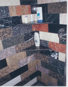 Marble and granite shower
