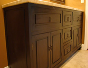Customm wooden vanity build in suwanee ga